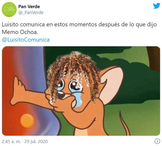 Memes de Luisito Comunica y Memo Ochoa