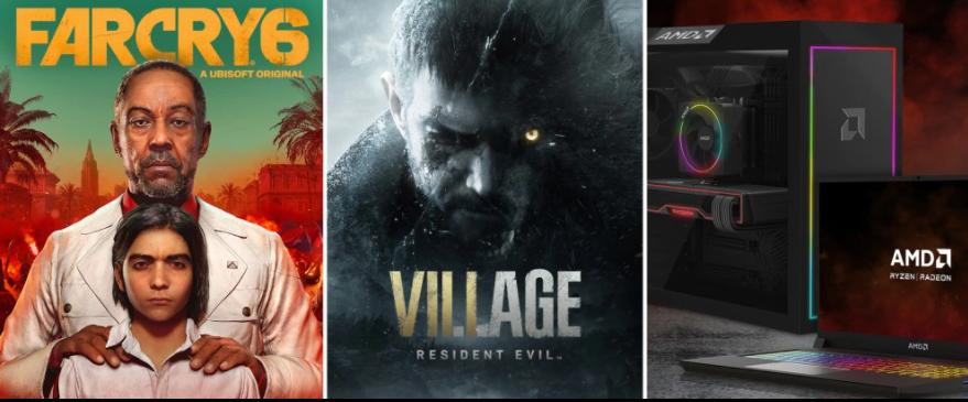 AMD regala Resident Evil Village y Far Cry 6 en increíbles paquetes con sus equipos