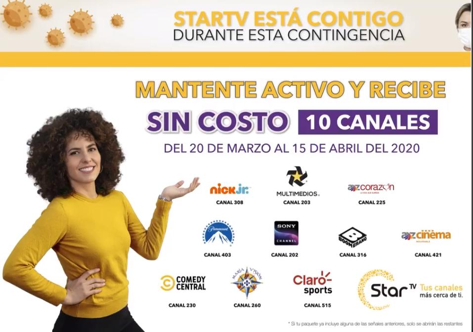 Coronavirus: canales gratis y otras promociones de cableoperadores en México