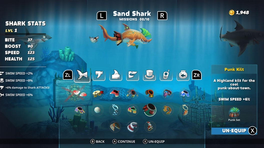 Hungry Shark controles