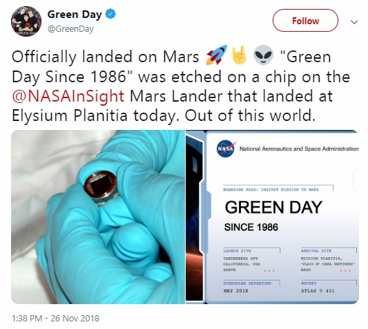 Twitter Green Day