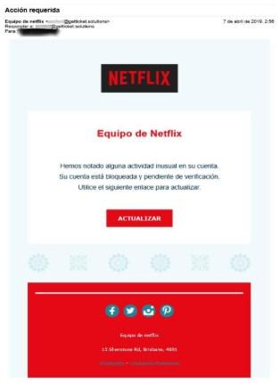 Phishing en Netflix