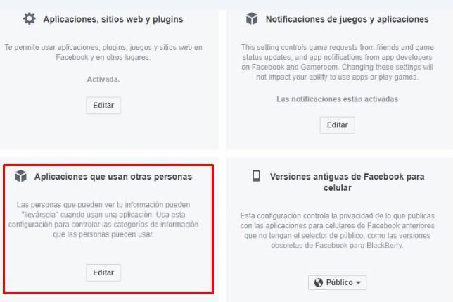 Desligar etiquetas de terceros en Facebook