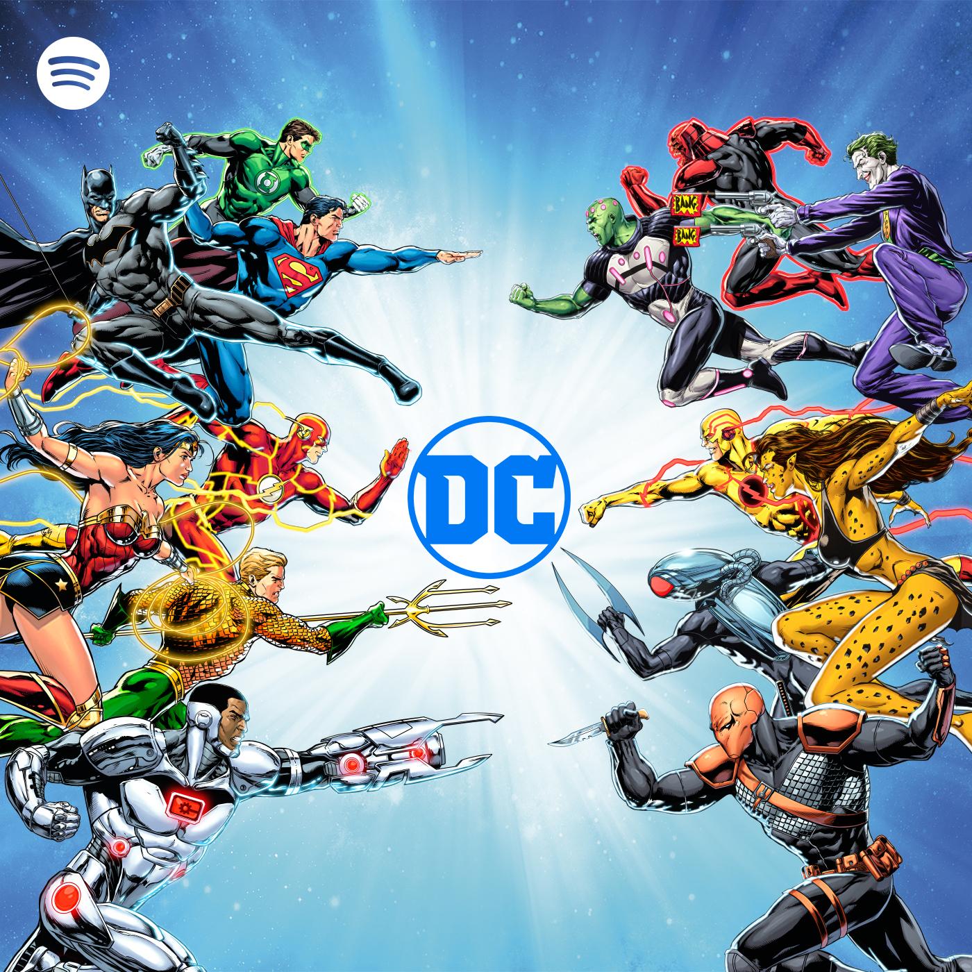 Podcasts de superhéroes de DC Comics en Spotify