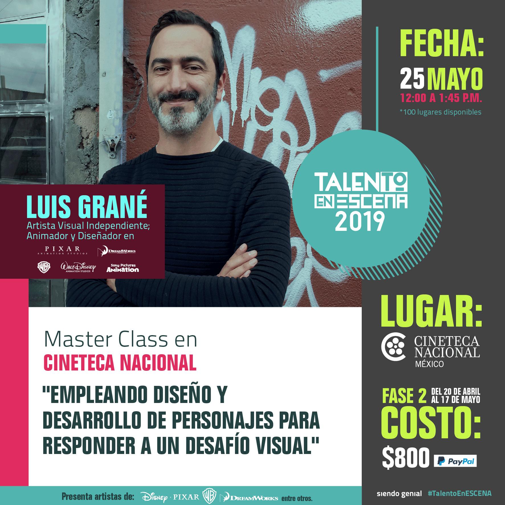 Talento en ESCENA 2019: Luis Grané