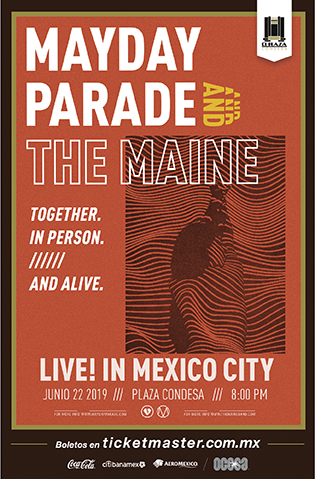 Mayday Parade & The Main México 2019