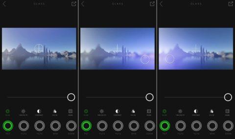 El efecto inmediato es visualizado como una vista previa en vivo
