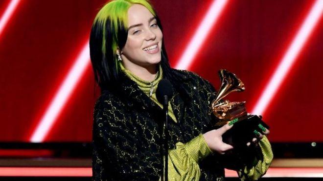 Billie Eilish en Grammy 2020