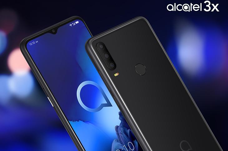 Alcatel 3X en tono joya negro