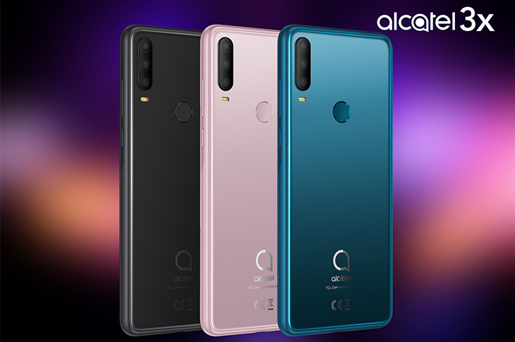Alcatel 3X disponible en tres colores en tono joya