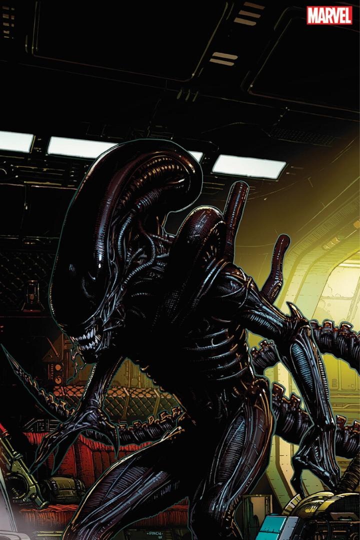 ¿Alien de David Finch a bordo de una de las naves de los Vengadores?