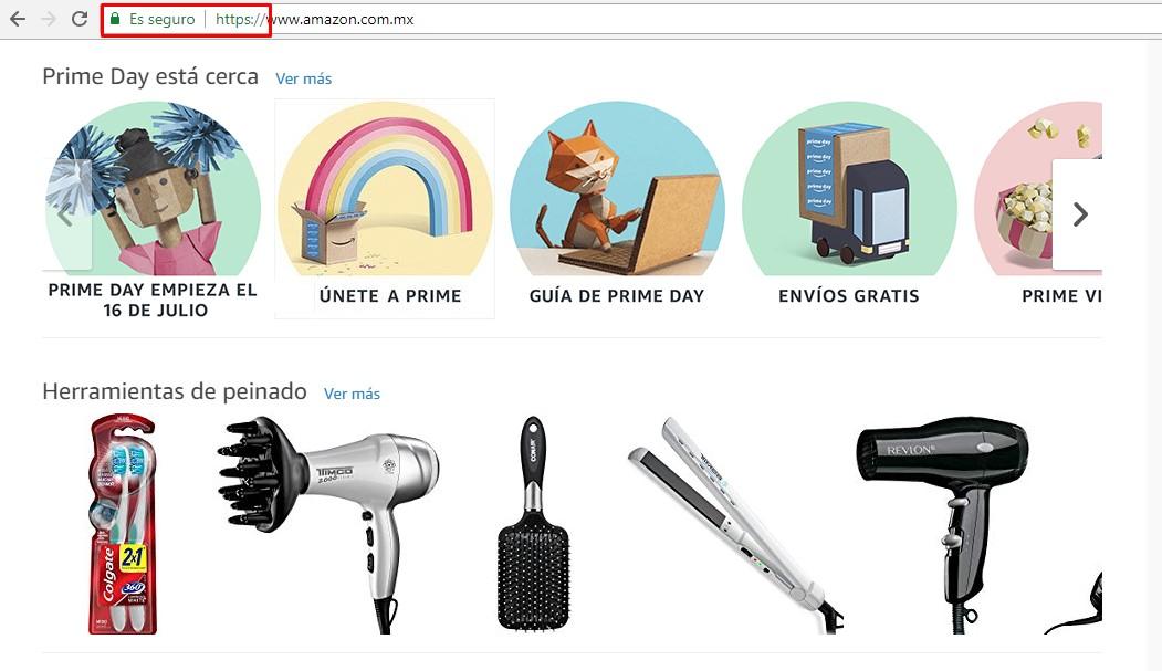 Compra en sitios con información cifrada