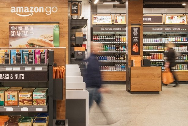 Interior de Amazon Go