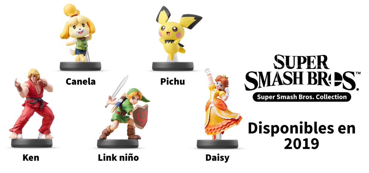 Nuevas figuras Amiibo anunciadas para Super Smash Bros Ultimate