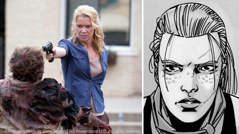 Andrea en la serie y cómic