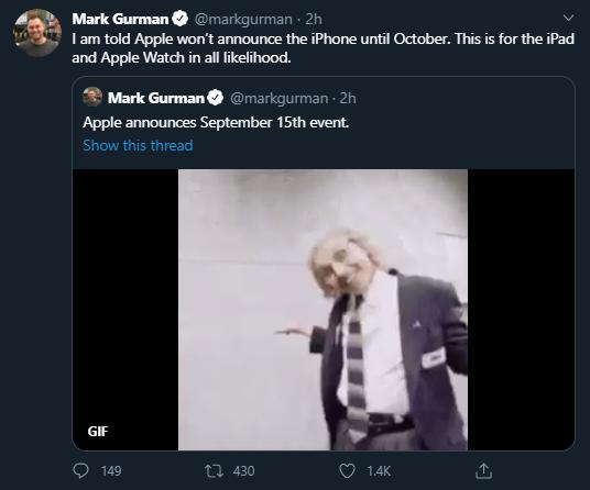 Mark Gurman sobre evento de Apple