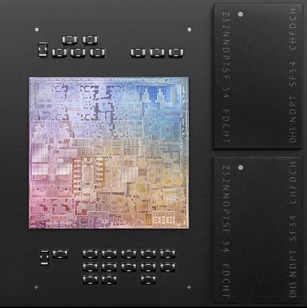 El chip M1 que habilita la nueva iMac, tiene una arquitectura de memoria unificada que reúne memoria de gran ancho de banda y baja latencia en un solo grupo dentro de un paquete personalizado.