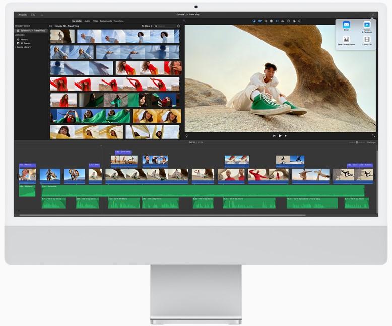 El CPU de la nueva iMac es hasta 85% más rápido y permite editar hasta cinco secuencias de video 4K.