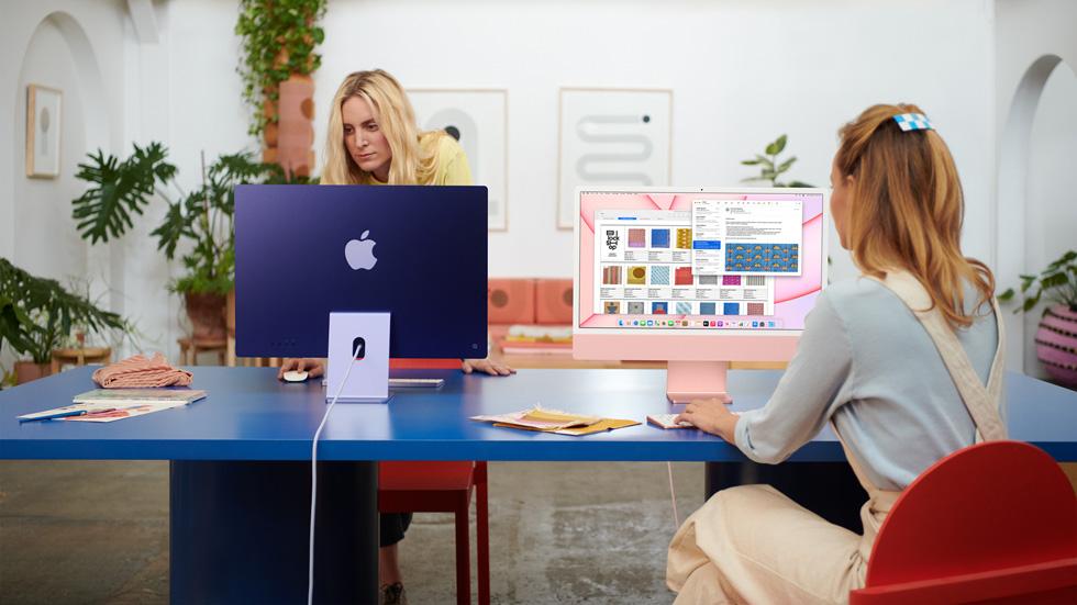 La nueva iMac combina el rendimiento del chip M1 con el sistema macOS Big Sur.