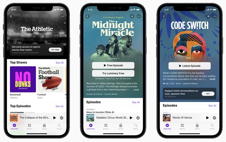 Apple Podcasts Suscripciones