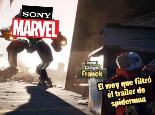 Memes del tráiler filtrado de Spider-Man