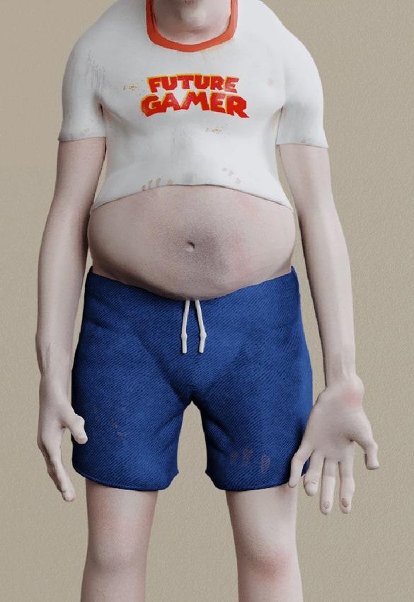 El gamer del futuro es obeso por la falta de ejercicio y desnutrición.
