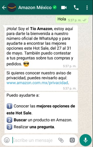 Asistente virtual de Amazon por Hot Sale 2019