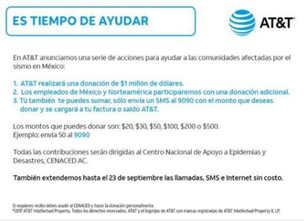 Comunicado donación AT&T