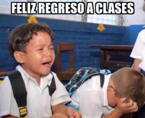 meme regreso a clases