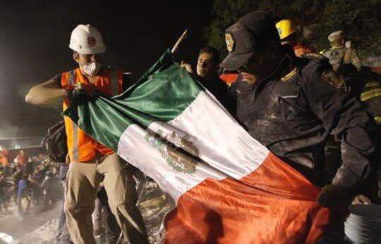 bandera de México sismo 2017