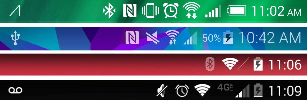 Barras de estatus en Android