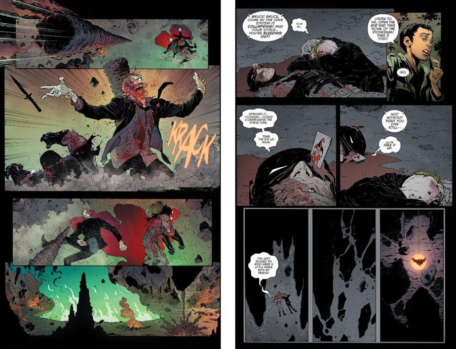 Muerte de Joker y Bruce en Batman Endgame