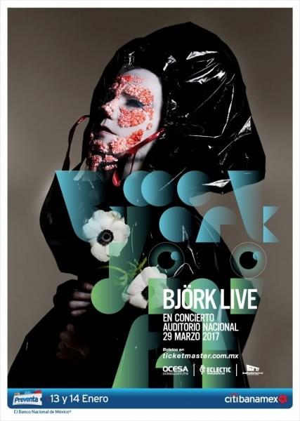 Póster oficial del concierto de Bjork