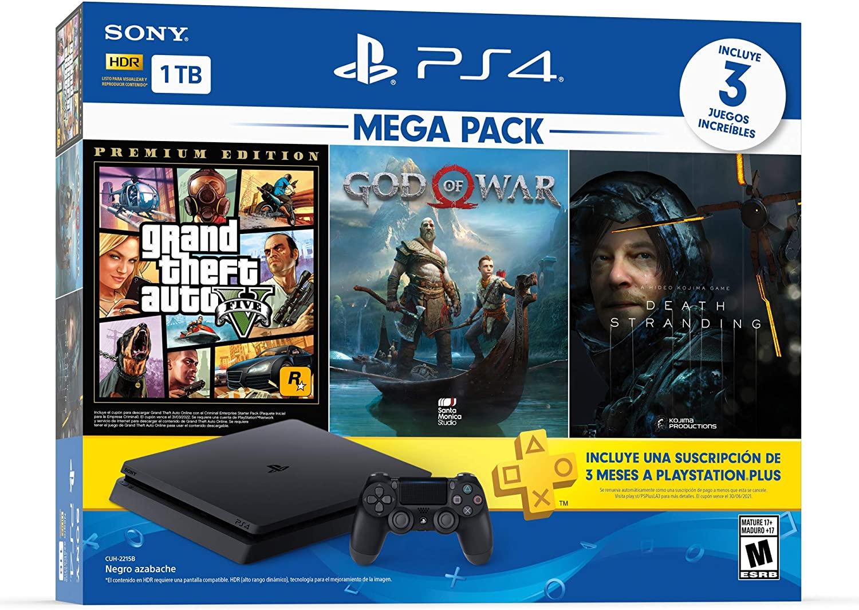 Paquete PS4 + 3 juegos + membresía por 3 meses