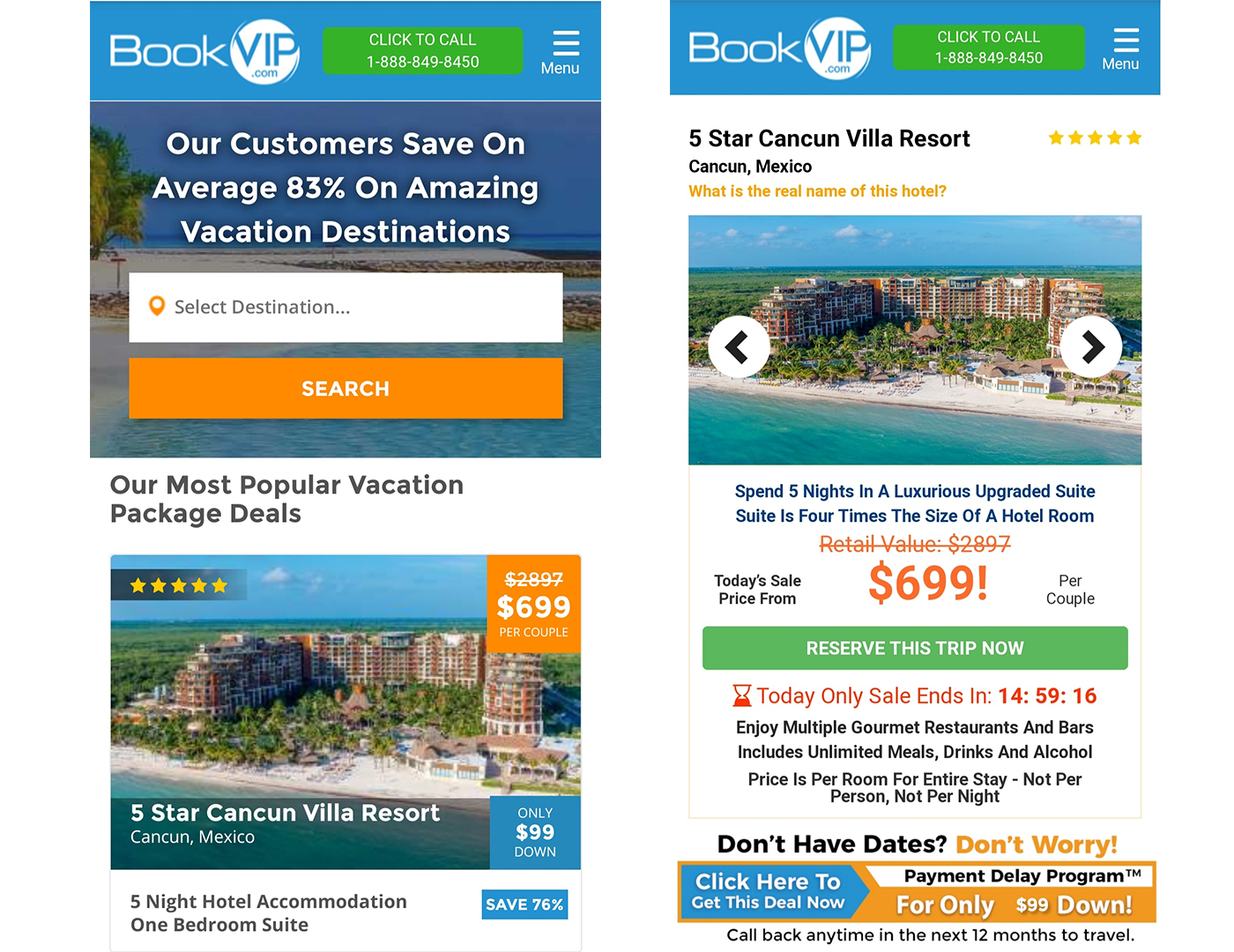 Resorts de lujo con descuento Black Friday en BookVip.com