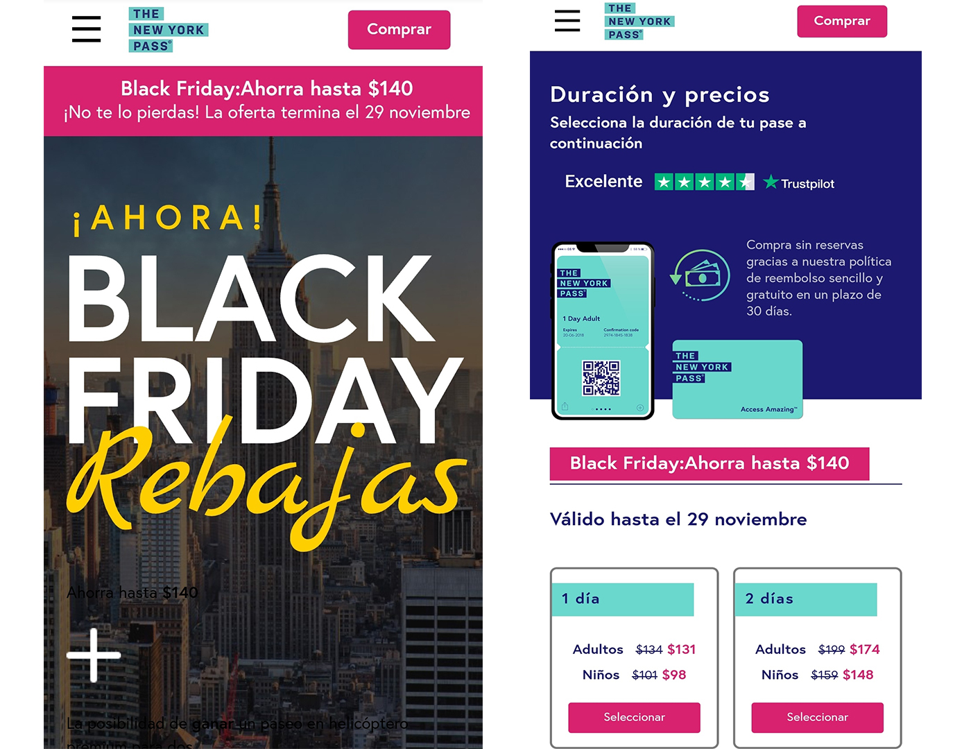 Ofertas Black Friday en New York Pass