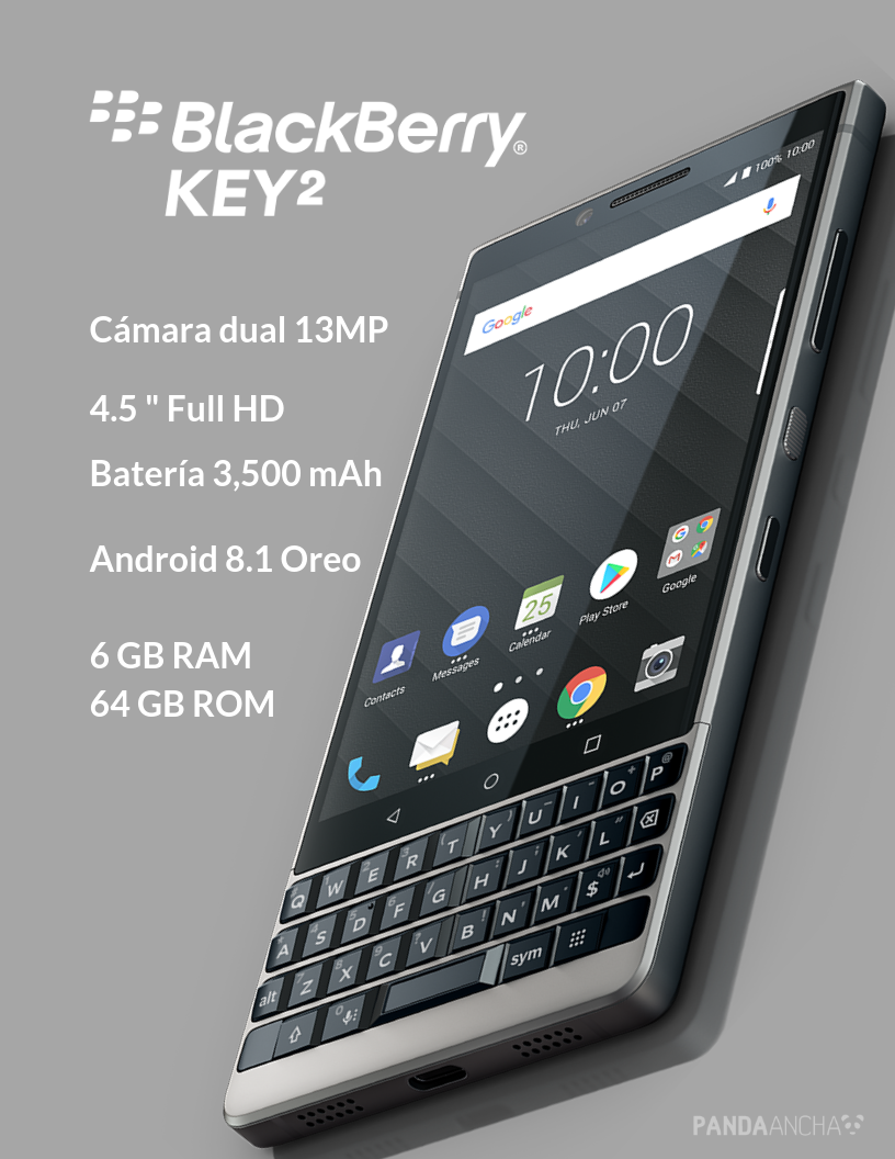 Características del BlackBerry KEY2 LE