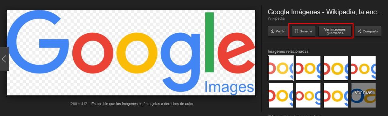 google images boton ver imagen