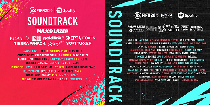 FIFA 20 Soundtrack y FIFA 20 VOLTA Soundtrack