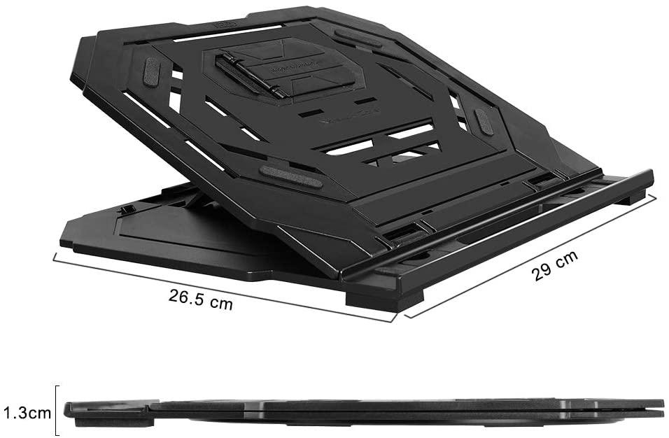 Dimensiones del soporte para computadora portátil