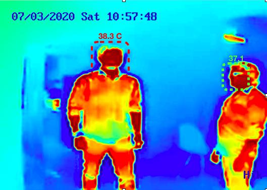 Cámara de detección de fiebre basada en IA Agrex.ai