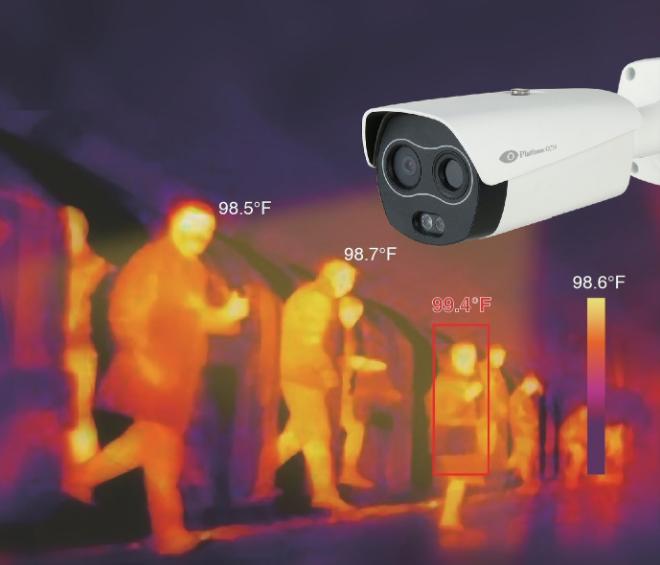 Cámara de detección de fiebre Platinum CCTV.