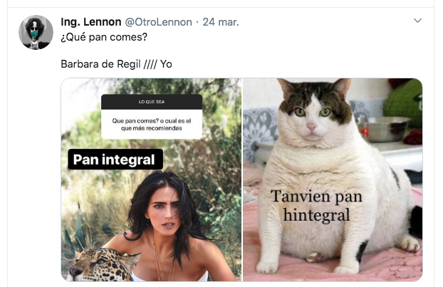 Memes de Bárbara de Regil y el pan integral
