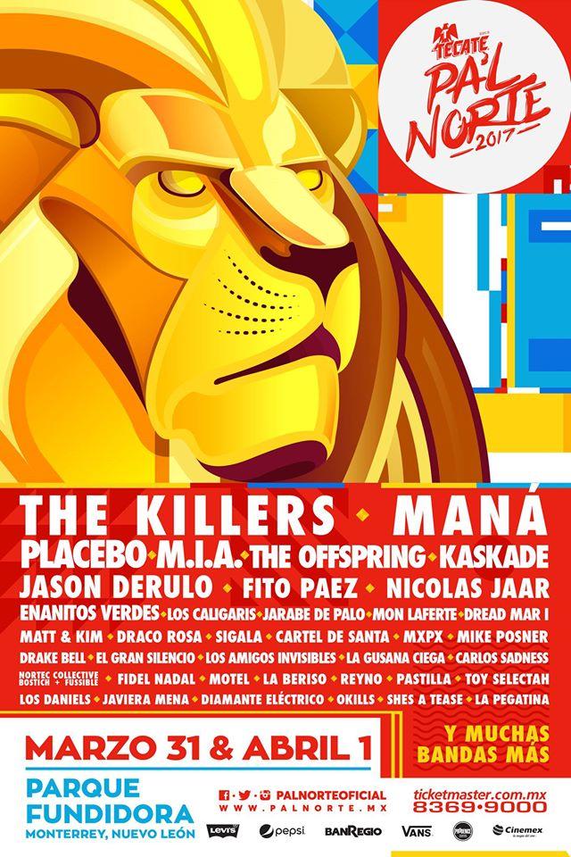 Cartel oficial del festival Pa'l Norte