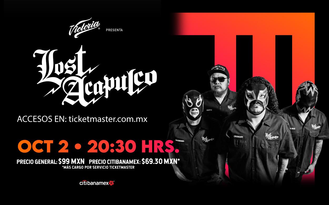 Concierto Irrepetible de Lost Acapulco vía streaming.