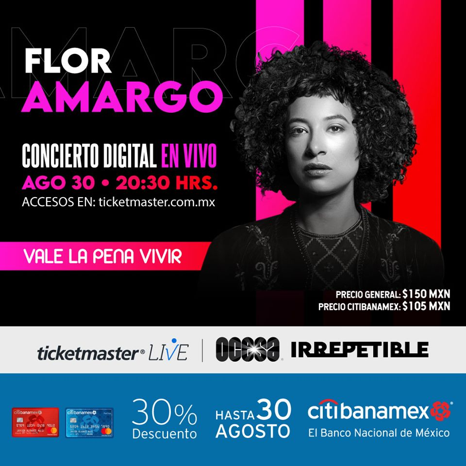 Concierto Irrepetible Flor Amargo vía streaming.