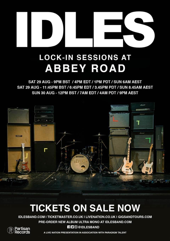 Boletos para IDLES en concierto vía streaming.