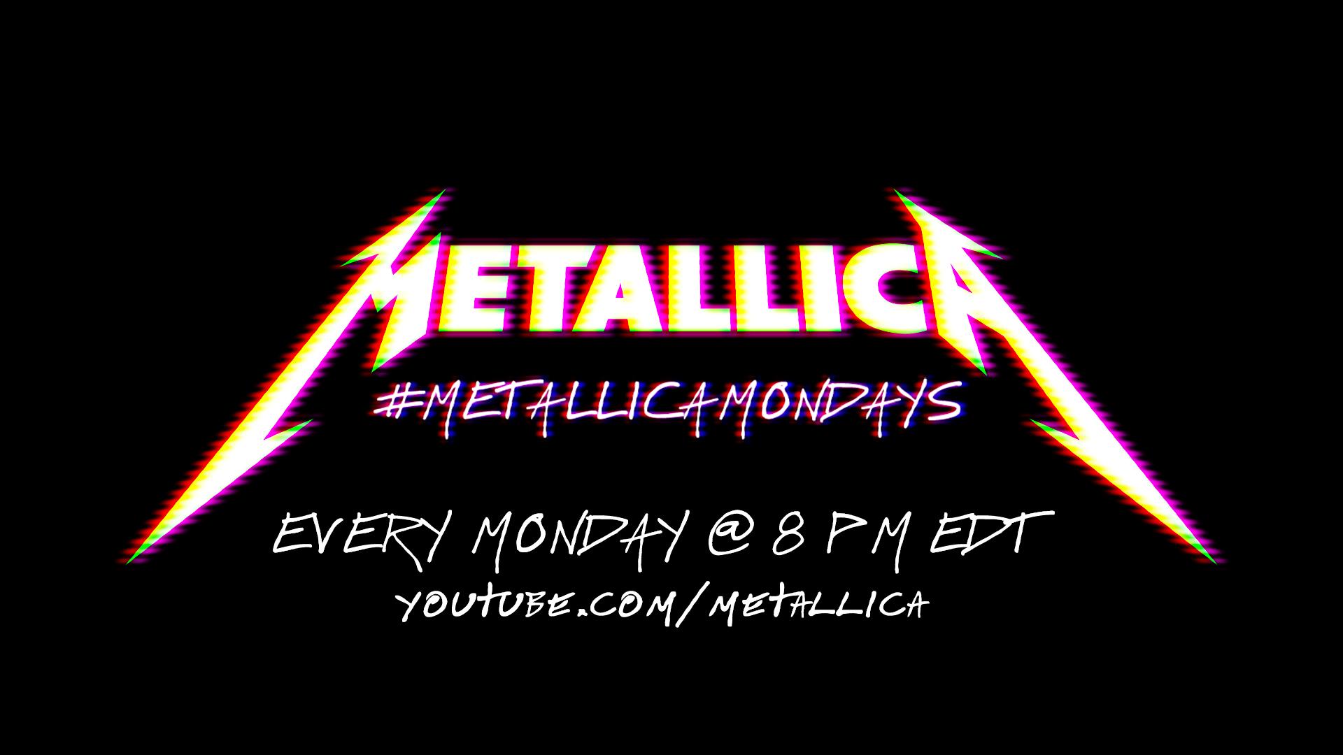 Metallica publica conciertos cada lunes en su canal de YouTube.