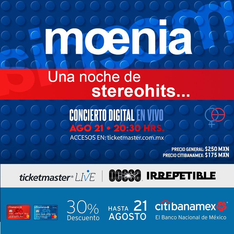 Moenia Irrepetible concierto en línea.