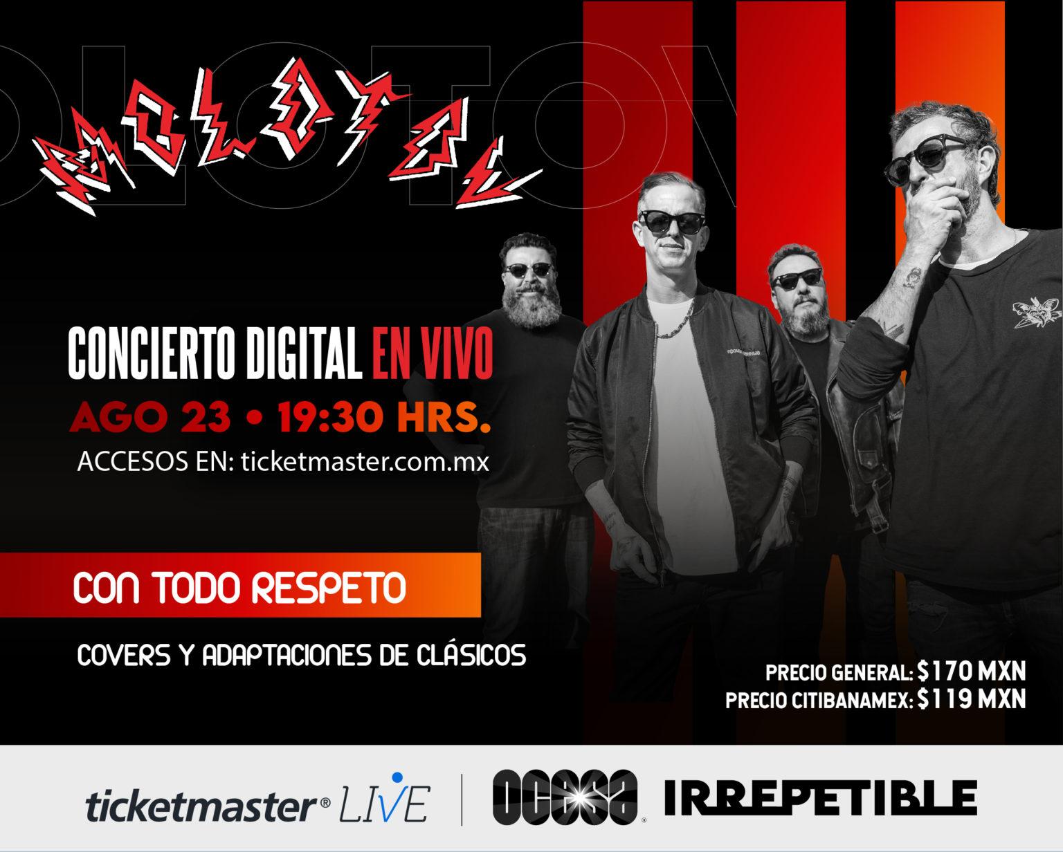 Molotov concierto Irrepetible via streaming.